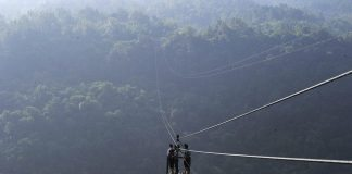 yushan village zip line 1