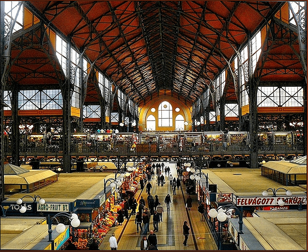 The Great Market Hall Budapest Hungary