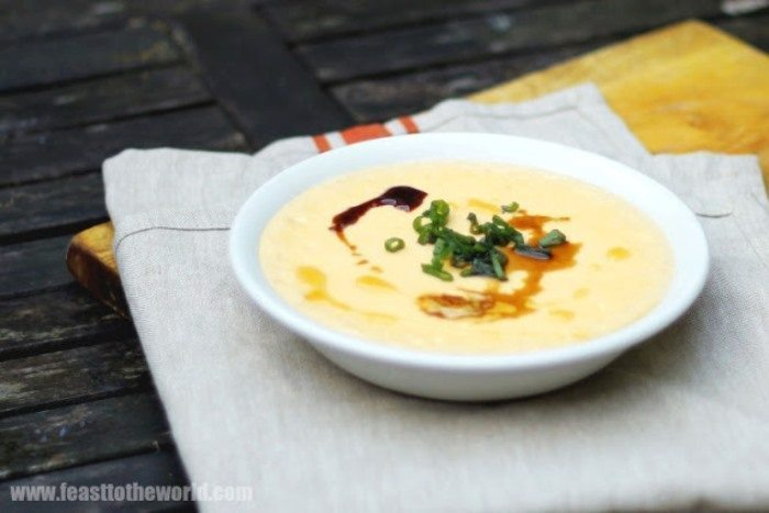 chinese steamed savory egg custard